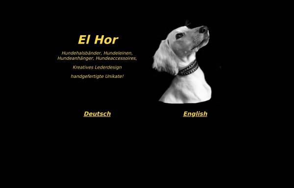 Vorschau von www.el-hor.de, El Hor kreatives Lederdesign