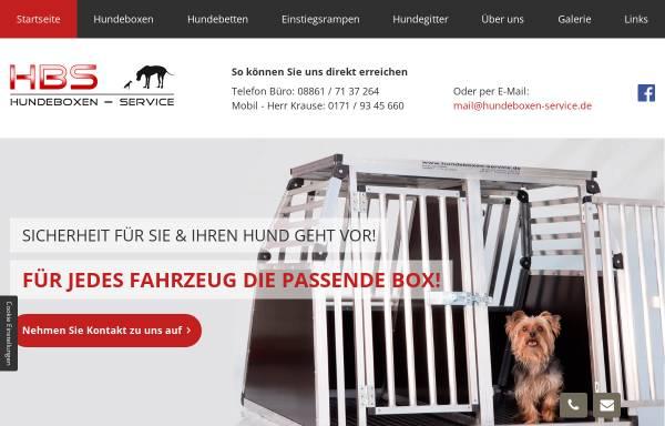 Vorschau von www.hundeboxen-service.de, Hundeboxen-Service Bucher und Krause