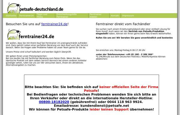 Vorschau von www.petsafe-deutschland.de, PetSafe