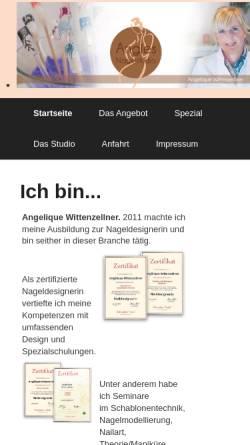 Vorschau der mobilen Webseite www.nagelstudio-waldkirchen.de, Waldkirchen