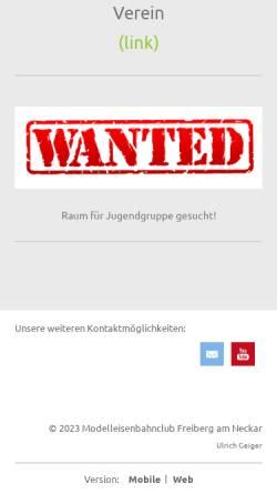 Vorschau der mobilen Webseite mec-freiberg.com, Modellbahnclub Freiberg am Neckar