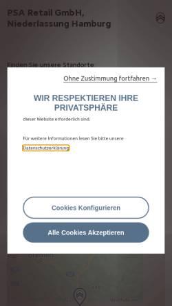 Vorschau der mobilen Webseite www.citroen-haendler.de, Citroën Commerce GmbH