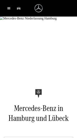 Vorschau der mobilen Webseite www.hamburg.mercedes-benz.de, Mercedes-Benz Niederlassung Hamburg