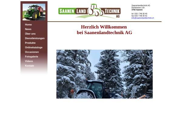 Vorschau von www.saanenlandtechnik.ch, Göpf Blum + Remo Raaflaub
