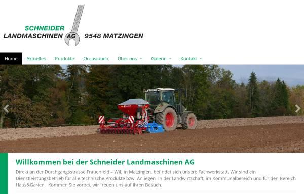 Vorschau von www.landmaschinen-schneider.ch, Schneider Landmaschinen