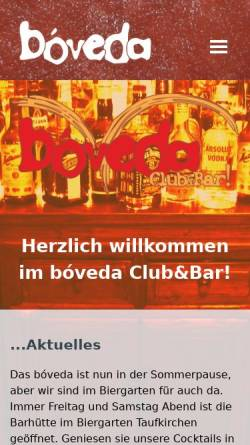 Vorschau der mobilen Webseite www.boveda-online.de, Club und Bar bóveda