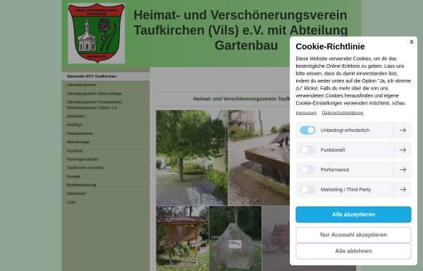 Vorschau von www.hvv-taufkirchen.de, Heimat- und Verschönerungsverein Taufkirchen (Vils) e.V.