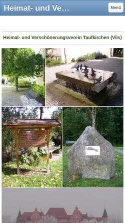 Vorschau der mobilen Webseite www.hvv-taufkirchen.de, Heimat- und Verschönerungsverein Taufkirchen (Vils) e.V.