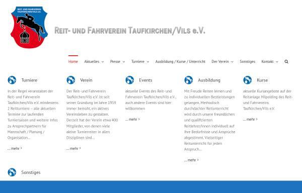 Vorschau von www.reitverein-taufkirchen-vils.de, Reit- und Fahrverein Taufkirchen/Vils e.V.