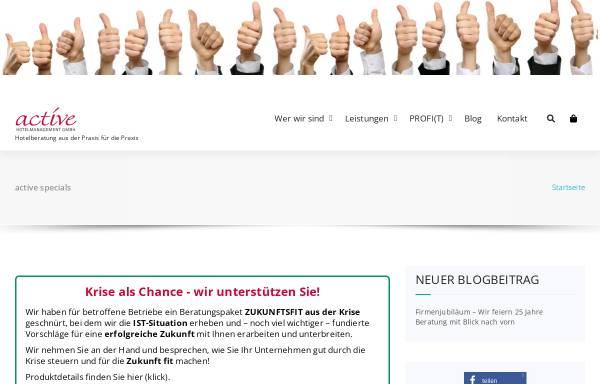 Vorschau von www.active-hotelmanagement.com, active Hotelmanagement GmbH