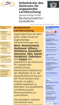Vorschau der mobilen Webseite www.arbeitskreis-lernforschung.de, Arbeitskreis des Zentrums für angewandte Lernforschung gemeinnützige Gesellschaft mbH