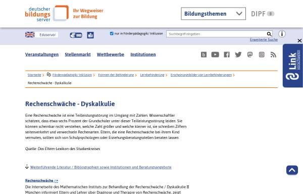 Vorschau von www.bildungsserver.de, Deutscher Bildungsserver