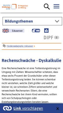 Vorschau der mobilen Webseite www.bildungsserver.de, Deutscher Bildungsserver