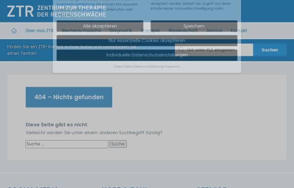 Vorschau von www.ztr-rechenschwaeche.de, Diskussions-Forum Rechenschwäche