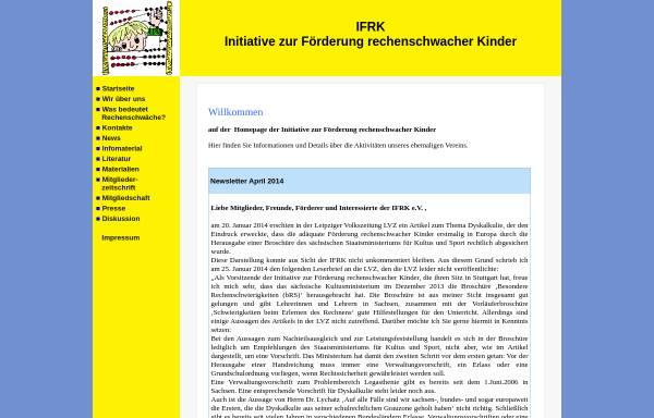 Vorschau von www.ifrk-ev.de, Initiative zur Förderung rechenschwacher Kinder e.V.
