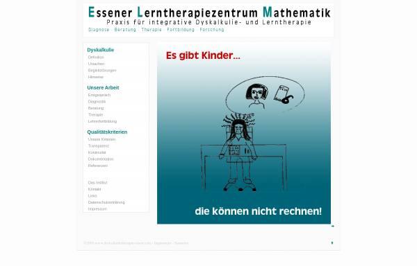 Vorschau von dyskalkulietherapie-essen.com, Essener Lerntherapiezentrum Mathematik