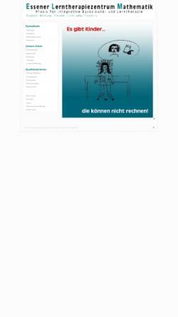 Vorschau der mobilen Webseite dyskalkulietherapie-essen.com, Essener Lerntherapiezentrum Mathematik