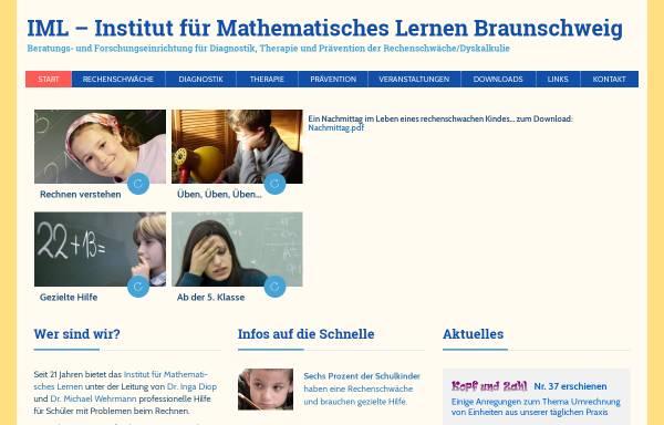 Vorschau von www.zahlbegriff.de, Institut für Mathematisches Lernen Braunschweig