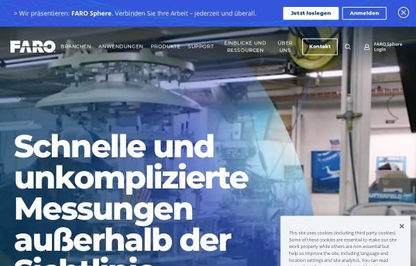 Vorschau von www.faro.com, FARO Europe GmbH & Co.KG