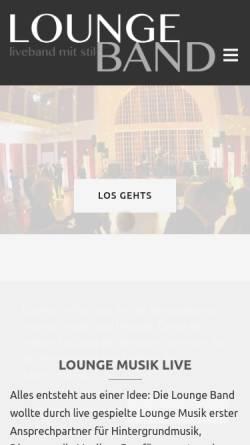 Vorschau der mobilen Webseite www.lounge-band.de, Lounge Band