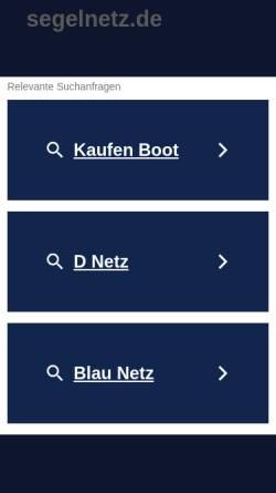 Vorschau der mobilen Webseite www.segelnetz.de, Segelnetz