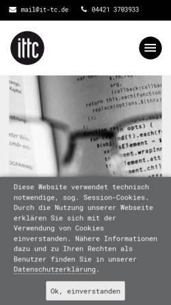 Vorschau der mobilen Webseite www.it-tc.de, ittc print + web Michael Neidhardt