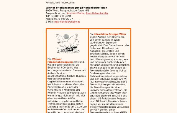 Vorschau von hiroshima.at, Wiener Friedensbewegung - Friedensbüro Wien