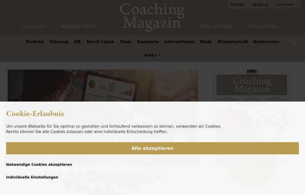 Vorschau von www.coaching-magazin.de, Coaching-Magazin - Das Online-Magazin von und für Coaches