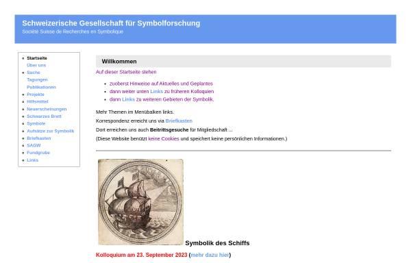 Vorschau von www.symbolforschung.ch, Schweizerische Gesellschaft für Symbolforschung