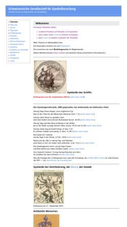 Vorschau der mobilen Webseite www.symbolforschung.ch, Schweizerische Gesellschaft für Symbolforschung