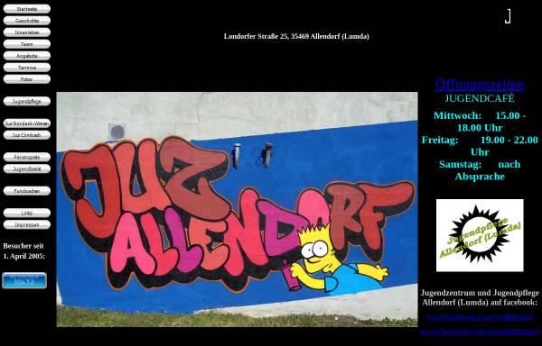 Vorschau von www.juz-allendorf.de, Jugendpflege der Stadt Allendorf (Lumda)