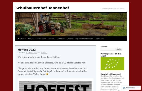 Vorschau von schulbauernhof.wordpress.com, Schulbauernhof Tannenhof