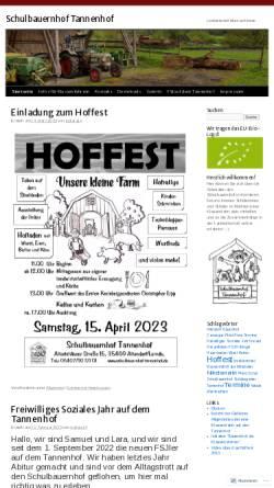 Vorschau der mobilen Webseite schulbauernhof.wordpress.com, Schulbauernhof Tannenhof