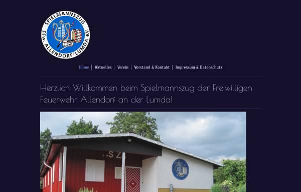 Vorschau von www.szallendorf.de, Spielmannszug der Freiwilligen Feuerwehr der Stadt Allendorf/Lumda. e.V.