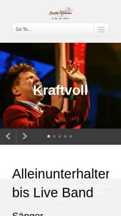 Vorschau der mobilen Webseite www.partystimmung.de, Night and Day - Gala Showband