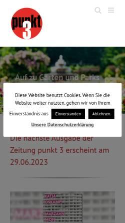 Vorschau der mobilen Webseite www.punkt3.de, punkt 3