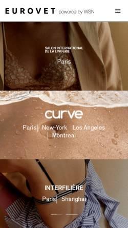Vorschau der mobilen Webseite www.eurovet.com, Eurovet