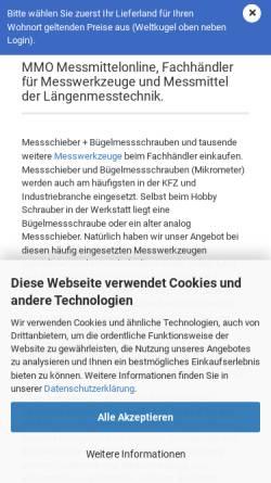 Vorschau der mobilen Webseite www.messmittelonline.de, Messmittelonline Christian Schulz