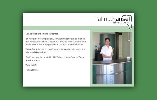 Vorschau von www.halinahansel.de, Zahnarztpraxis Halina Hansel