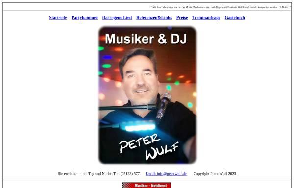 Vorschau von www.peterwulfband.de, Peter Wulf Band