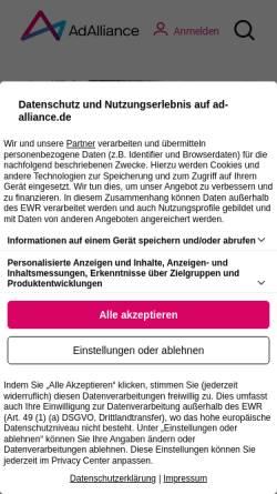 Vorschau der mobilen Webseite www.ip.de, IP Deutschland GmbH