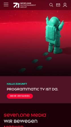 Vorschau der mobilen Webseite www.sevenonemedia.de, SevenOne Media GmbH