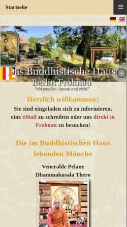 Vorschau der mobilen Webseite das-buddhistische-haus.de, Buddhistisches Haus, Berlin