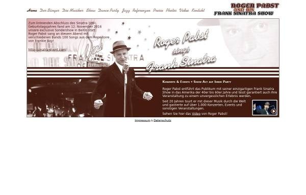 Vorschau von www.rogerpabst.de, Roger Pabst and his Frank Sinatra Show