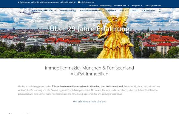 Vorschau von ammersee-immobilien.com, AkuRat Service Group