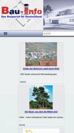 Vorschau der mobilen Webseite www.bau-info.de, Bau-Info Bayern