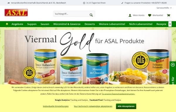 Vorschau von www.asal-nahrungsmittel.de, Asal und Co GmbH
