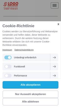 Vorschau der mobilen Webseite www.logo-umzuege.de, Logo-Umzüge