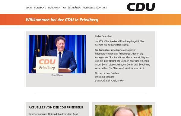 Vorschau von www.cdu-friedberg.de, CDU-Stadtverband Friedberg