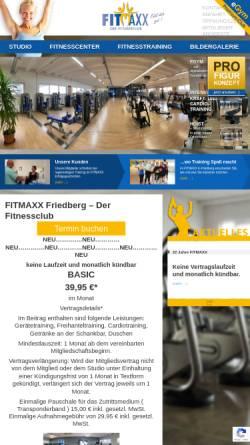 Vorschau der mobilen Webseite www.fitmaxx-gmbh.de, Fitmaxx Friedberg